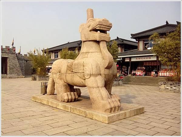 三國城門口獨角石獸.jpg