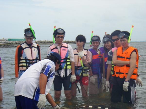 澎湖鳥嶼的第一天-下午行程-踏浪與浮潛01