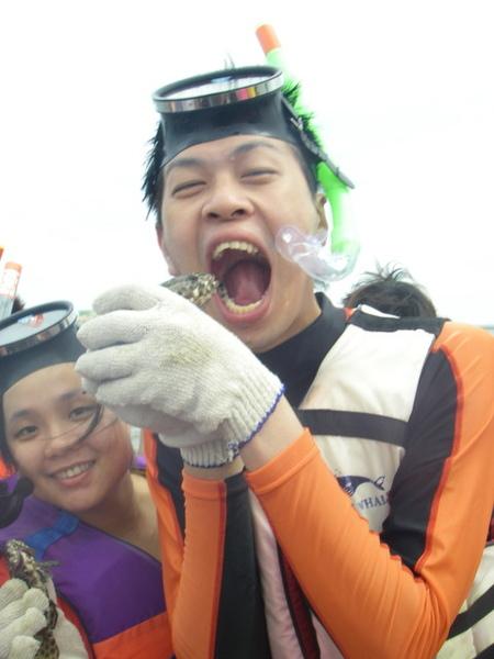 澎湖鳥嶼的第一天-下午行程-踏浪與浮潛06
