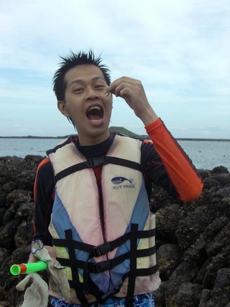 澎湖鳥嶼的第一天-下午行程-踏浪與浮潛22