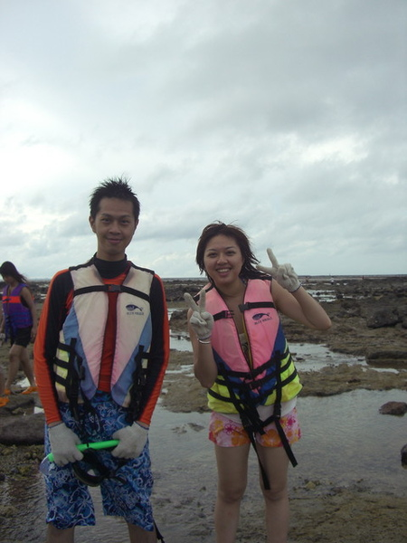 澎湖鳥嶼的第一天-下午行程-踏浪與浮潛26