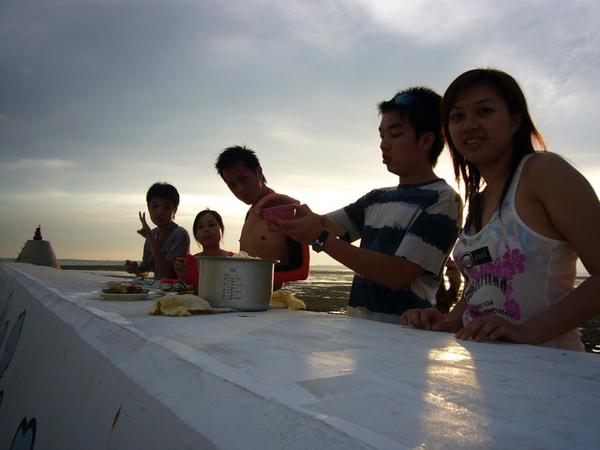 澎湖鳥嶼的第一天-下午行程-與鳥嶼的夕陽突然有個晚餐約會07