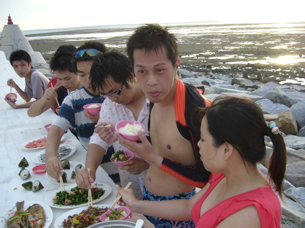 澎湖鳥嶼的第一天-下午行程-與鳥嶼的夕陽突然有個晚餐約會09
