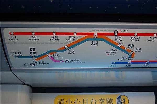 2007.8.3-8.5 東涌、欣澳地鐵站與迪士尼車廂 01