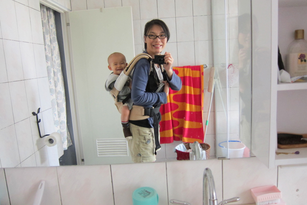 first time carry him on the back
