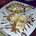 點心.香蕉慕斯蛋皮巧克力冰淇淋