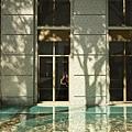 中庭窗景+水池