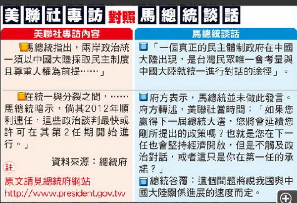 美聯社報導 馬大動作更正-2010.10.20-02.jpg