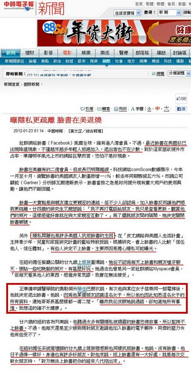 曝隱私更疏離 臉書在美退燒-2012.01.23.jpg
