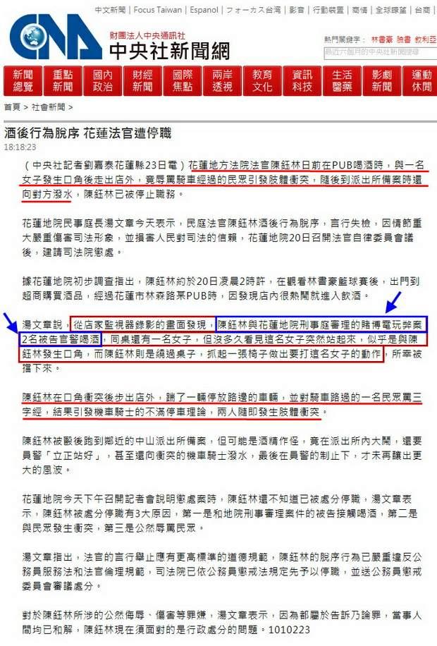 酒後行為脫序 花蓮法官遭停職-2012.02.23