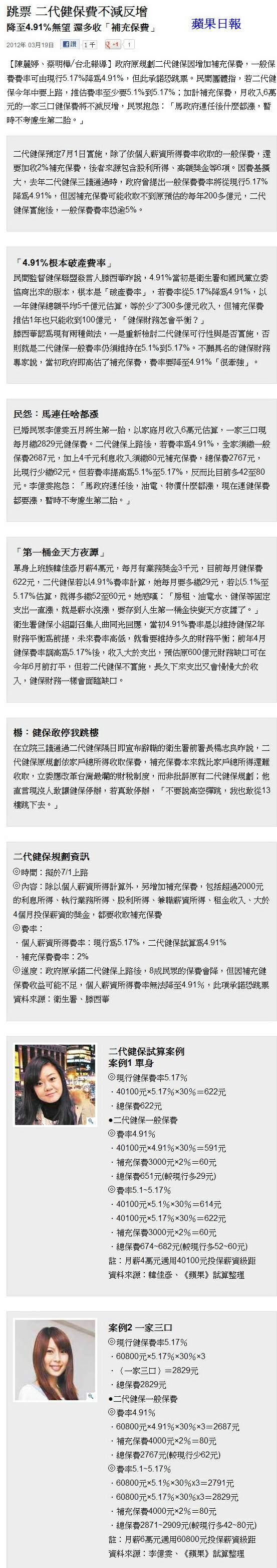 跳票 二代健保費不減反增-2012.03.19