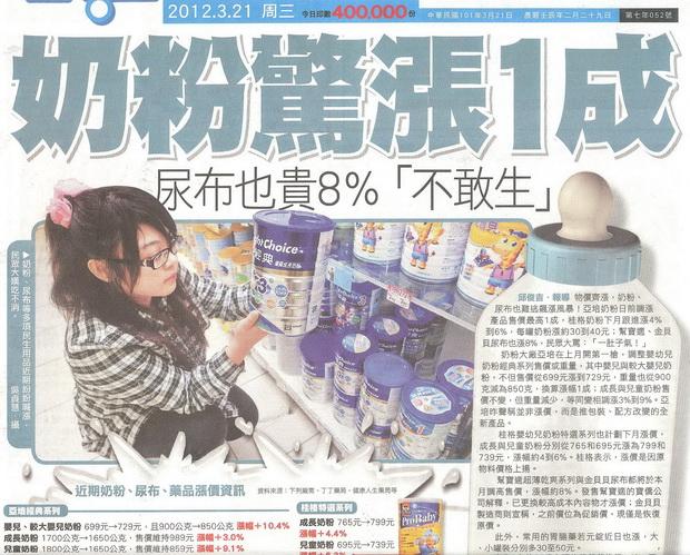奶粉漲一成-2012.03.21-01