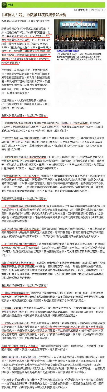 經濟太「悶」 政院推13項振興景氣措施-2013.05.28