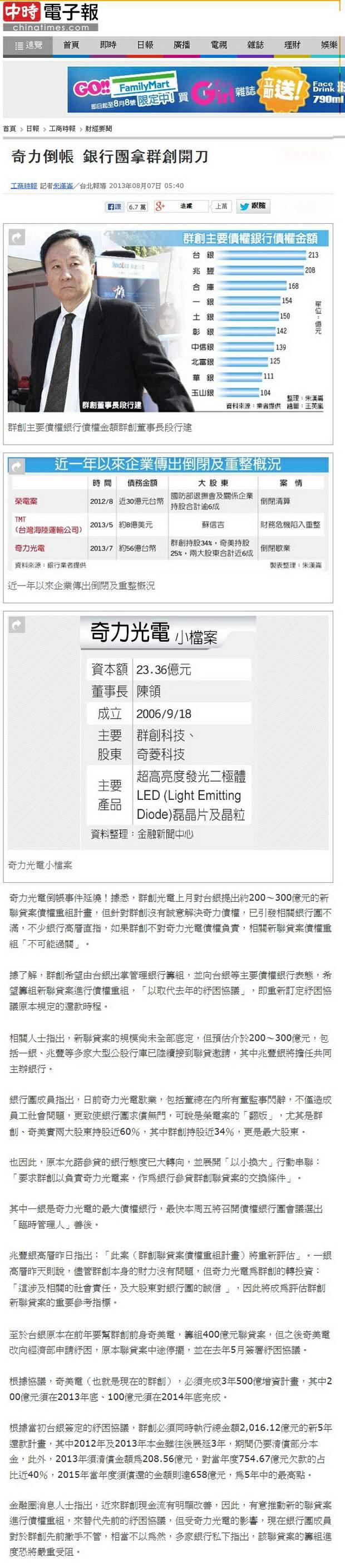 奇力倒帳 銀行團拿群創開刀-2013.08.07.jpg