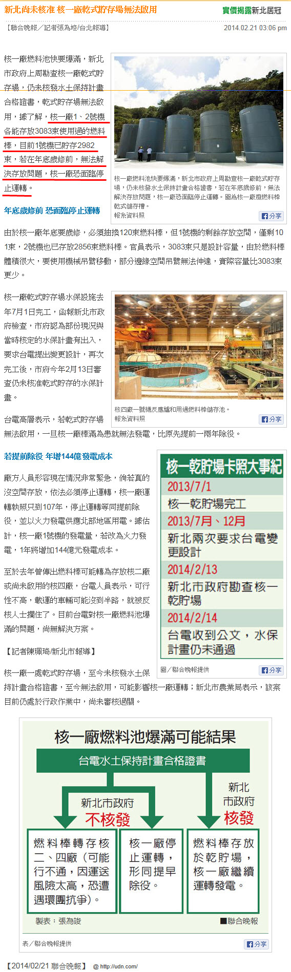 新北尚未核准 核一廠乾式貯存場無法啟用-2014.02.21-01.jpg