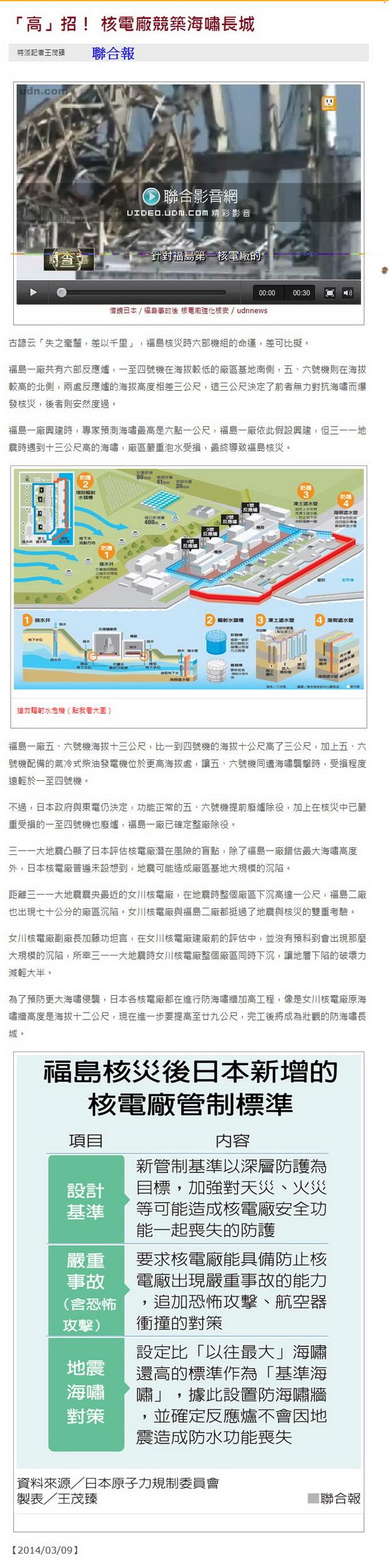 「高」招! 核電廠競築海嘯長城-2014.03.09.jpg
