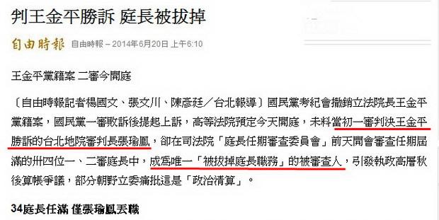 判王金平勝訴 庭長被拔掉-2014.06.20-02.jpg
