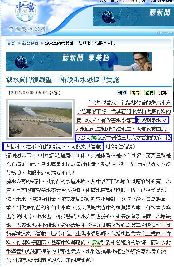 缺水真的很嚴重 二階段限水恐提早實施-2011.05.02.jpg