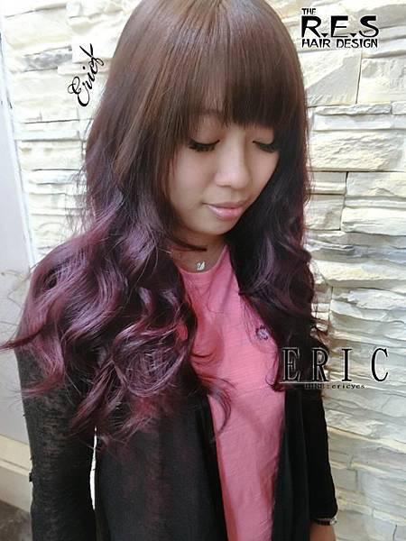 女生長髮髮型髮色染髮