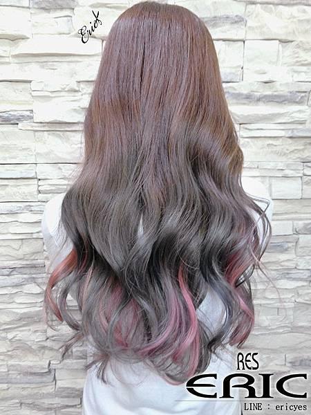 2017女生長髮髮型染髮2018