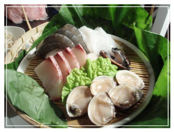 齊民~海鮮盤,有鮮干貝有活九孔