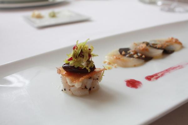 北海道生干貝與佩里哥黑松露薄片沙拉