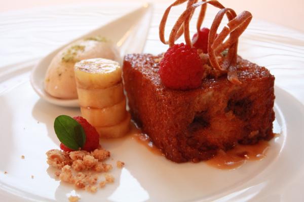 花生沙巴雍與巧克力普爾度麵包, 萊姆香蕉雪酪 (3).JPG