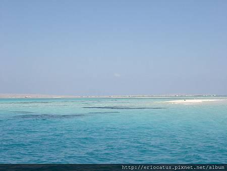超藍的海水