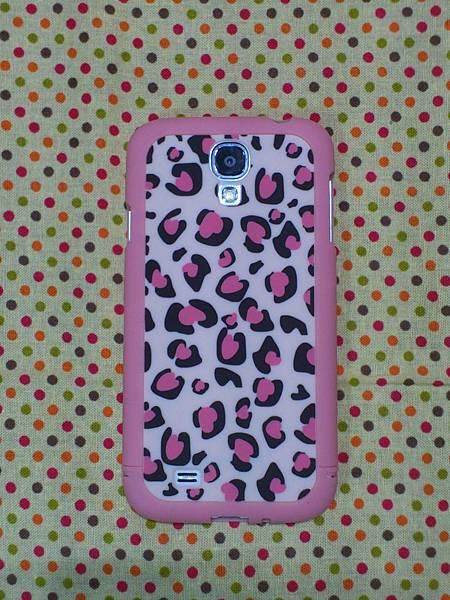 粉紅豹紋硬殼