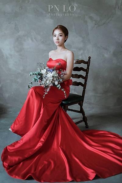 手綁捧花韓式婚紗