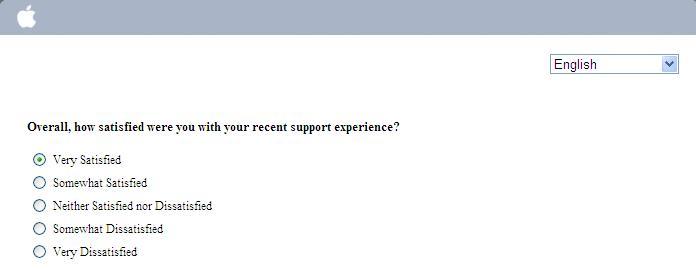 Apple客戶滿意度調查