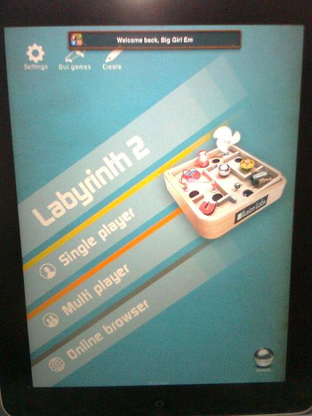 iPAD game : Labyrinth 2 HD Lite