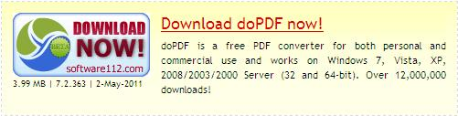 doPDF v7 download