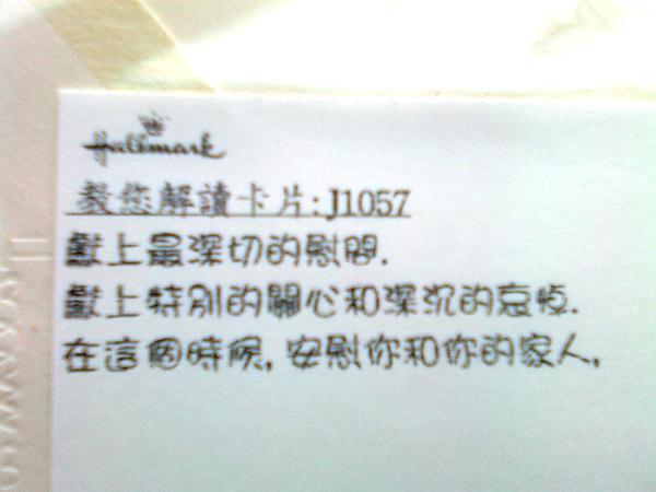 慰問詞-中文