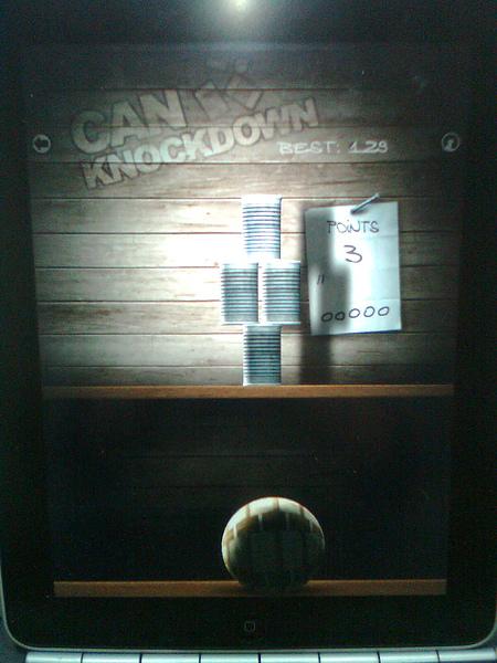 iPAD game : Can Knock down