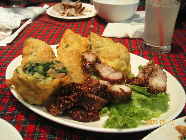 紅燒肉+炸韭菜包