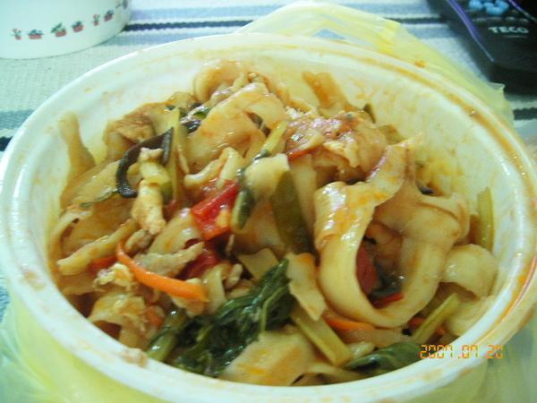 蕃茄豬肉刀削炒麵