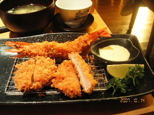 香脆鮮蝦&腰內豬排套餐
