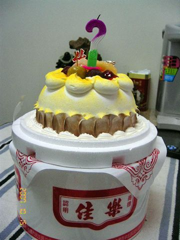 小小一個蛋糕擺起來也頗大器