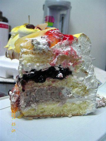 切到糊掉的蛋糕
