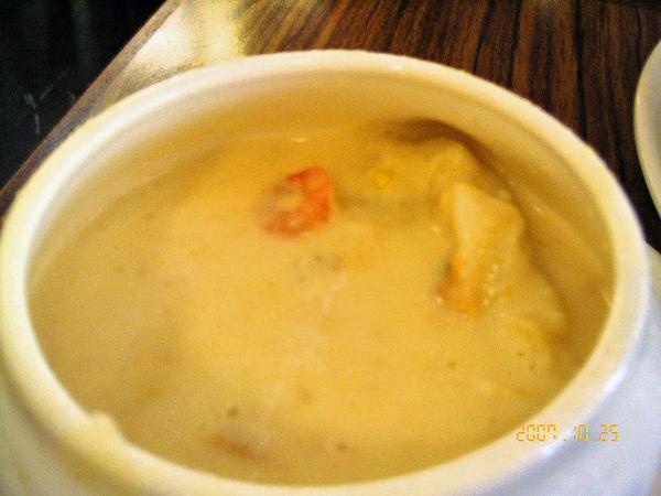 酥皮融在湯裡