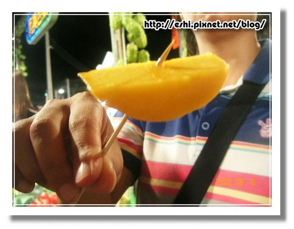 試吃的芒果就這麼大一塊