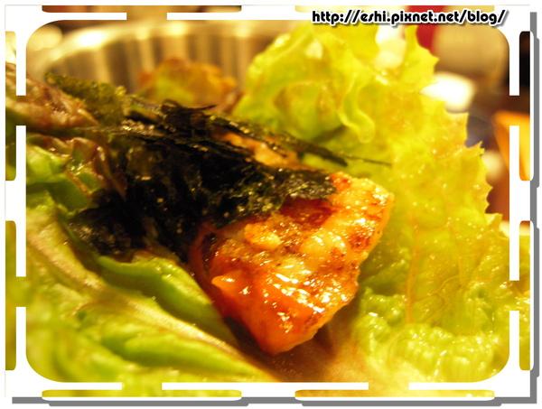 吃法3:烤肉+生菜海苔
