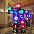 仁川大廳很有創意的可愛機器人