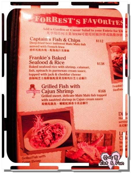 菜單有照片,中英文解釋都有