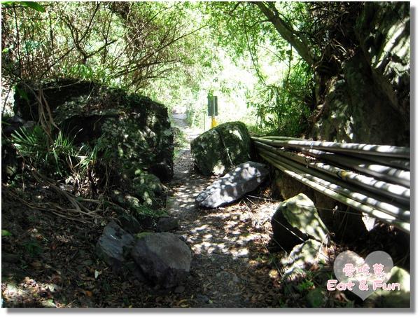 水管和舊落石讓這邊的路變得好小