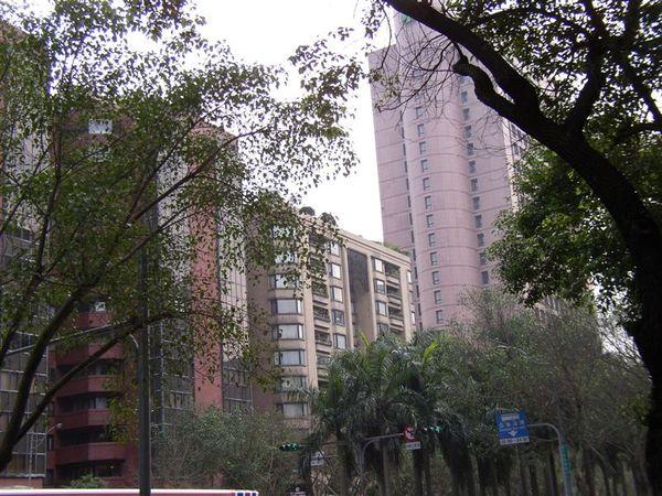 344.仁愛延吉街口西側的建築多由國泰興建