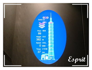 Taipei 101 觀景台 - 電梯內