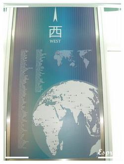 Taipei 101 觀景台 - 方向指示 - 西