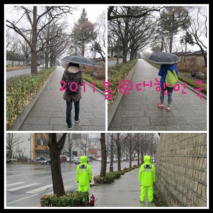 韓國警察的制服雨衣好亮